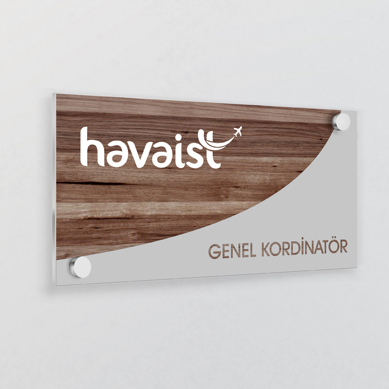 Empty glass name plate 3d realistic vector