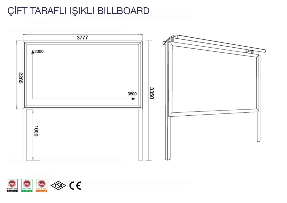 çift taraflı billboard teknik